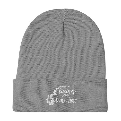 Lake Time Embroidered Beanie