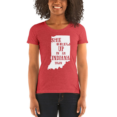Indiana Girl Bella Canvas Tri-Blend Ladies' Short Sleeve T-shirt