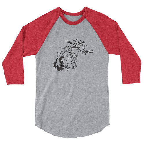 Magical Lake 3/4 sleeve raglan shirt