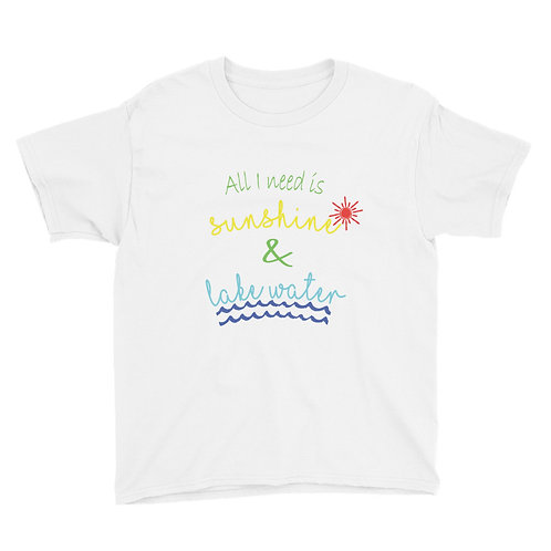 Sunshine and Water Youth Short Sleeve T-Shirt