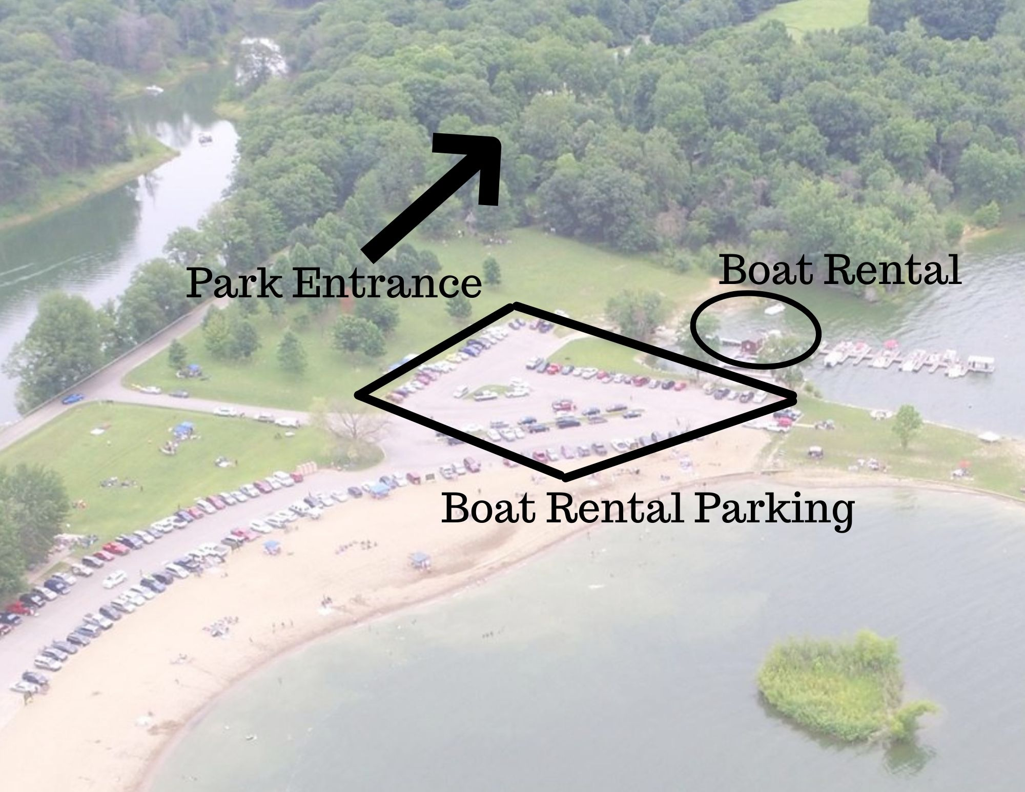Do not park in the employee parking lot or block the entrance.