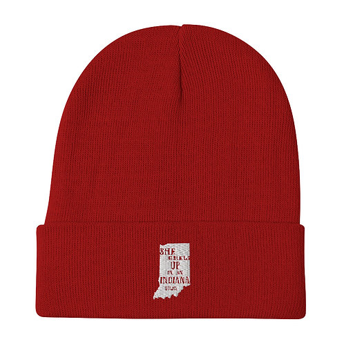 Indiana Girl Embroidered Beanie