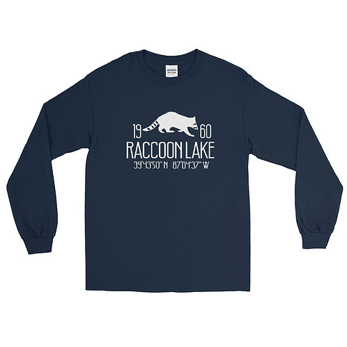 Raccoon Lake Gildan Men's Long Sleeve Shirt