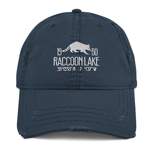 Raccoon Lake Distressed Dad Hat