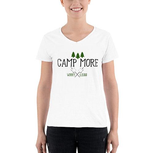 Camp More Women's Casual V-Neck Shirt