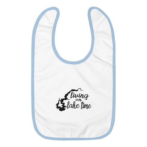 Lake Time Embroidered Baby Bib