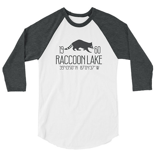 Raccoon Lake 3/4 sleeve raglan shirt