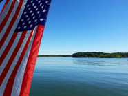 American flag on Raccoon Lake