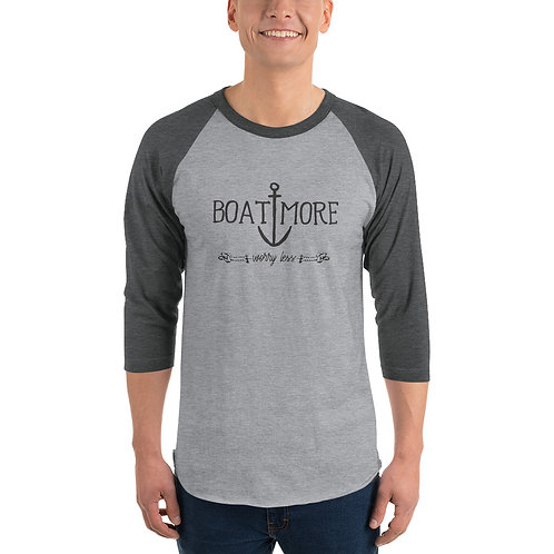 Boat More 3/4 sleeve raglan shirt