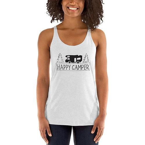 Happy Camper Women's Racerback Tank 6733