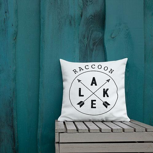 Raccoon Lake Compass Premium Pillow