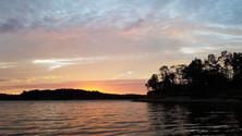 Raccoon Lake sunset