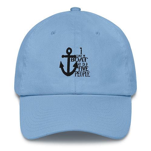 I Like My Boat Cotton Cap