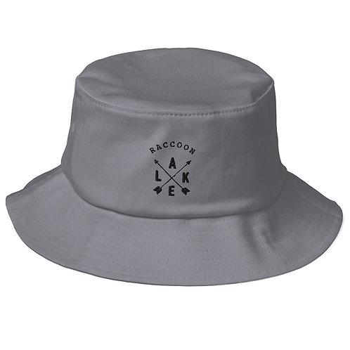 Raccoon Lake Compass Old School Bucket Hat