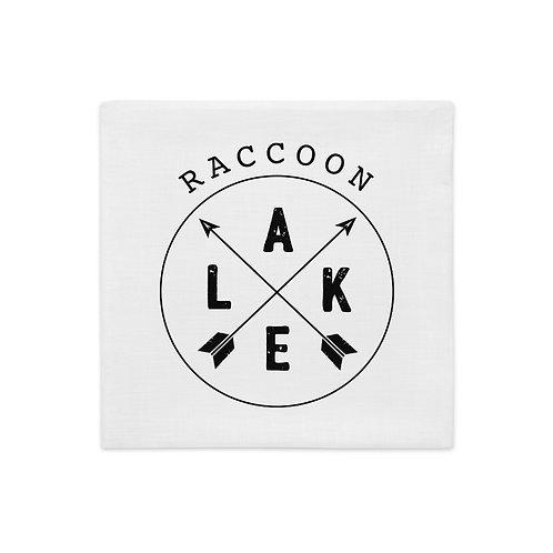 Raccoon Lake Compass Premium Pillow Case