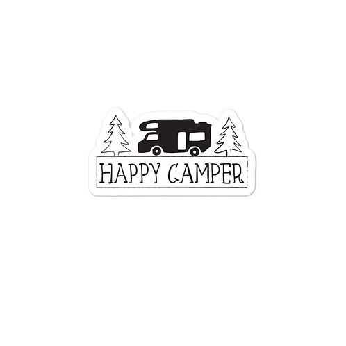 Happy Camper Bubble-free stickers