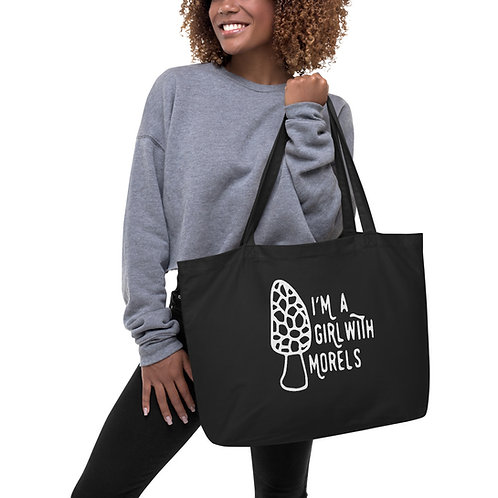 I'm a Girl With Morels Large organic tote bag
