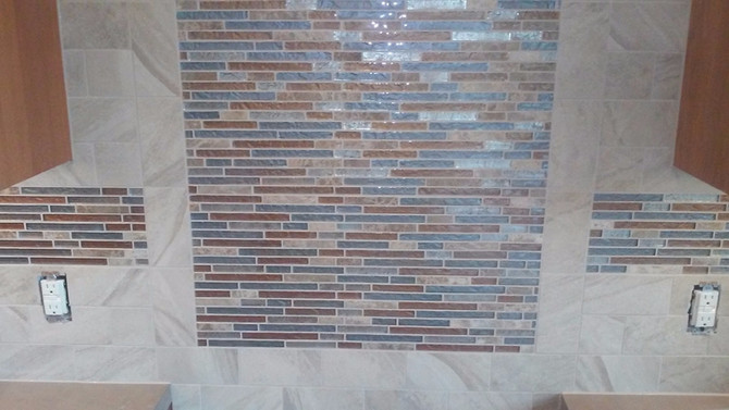 New Tile Backsplash Installed - Wausau, WI November 2016