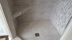 Custom Tile Shower Bench