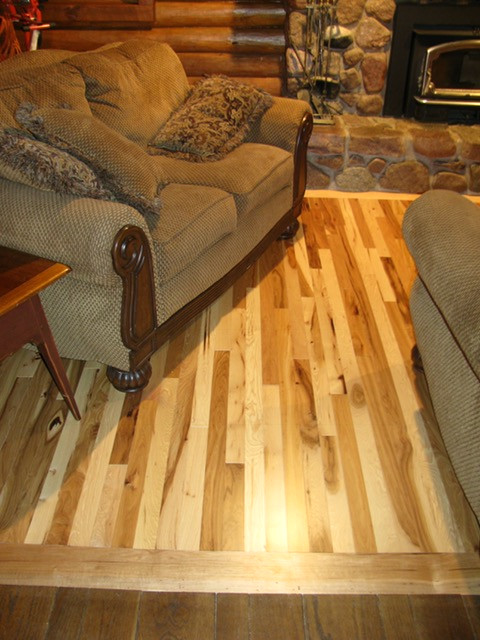 Vintage Hickory Hardwood Flooring installed in Luxemburg, WI
