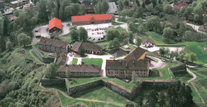 """Kongsberg Fortress in the old arms hall with an exhibition for """"Stop the Violence"""""""
