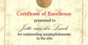 Diploma: Certificate of Excellence at Palm Art Award