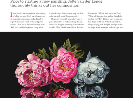 Article in International Artist Magazine no.109