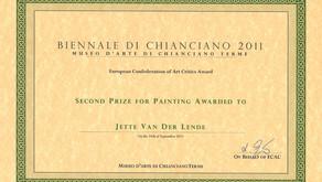 Award: Second price at Biennale di Chianciano in 2011
