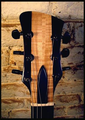 Stripe guitar headstock
