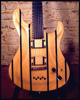 Stripe guitar front body