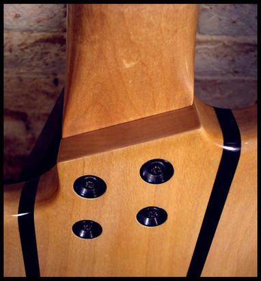 Stripe guitar volute
