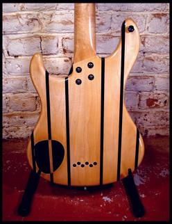Stripe guitar body back