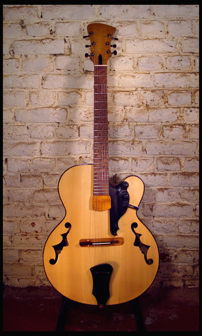 Archtop front on