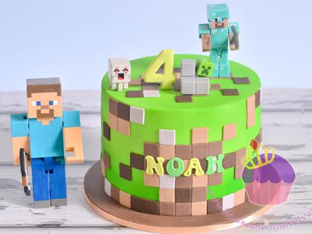 Minecraft Cake for Noah