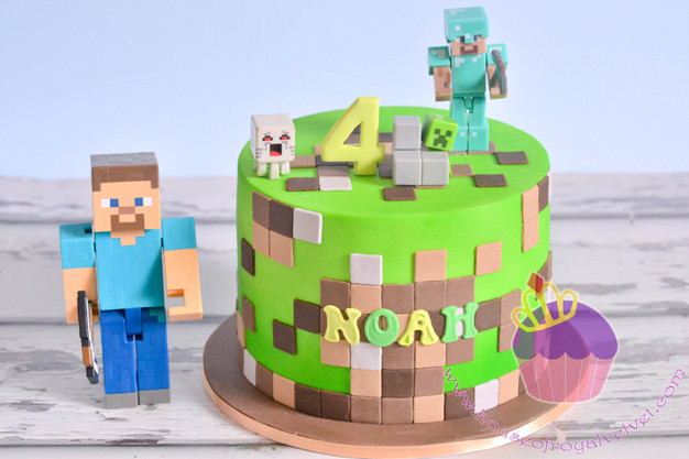 Minecraft Cake for Noah Perth Cakes Perth WA House of Royal Velvet