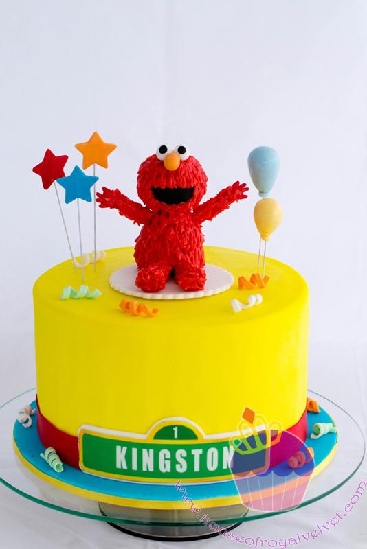 Elmo Cake For Kingston Perth Cakes Perth WA House of Royal Velvet