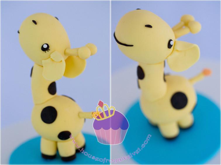 fondant giraffe