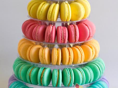 Rainbow Macarons for Jessica's Wedding