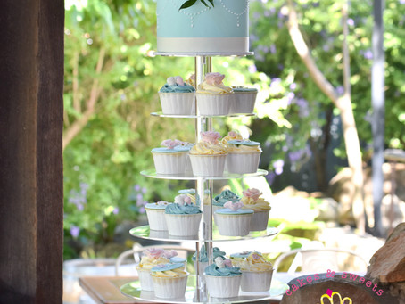 Wedding Cake & Cupcake Tower