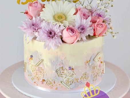 Pink & Purple Cake