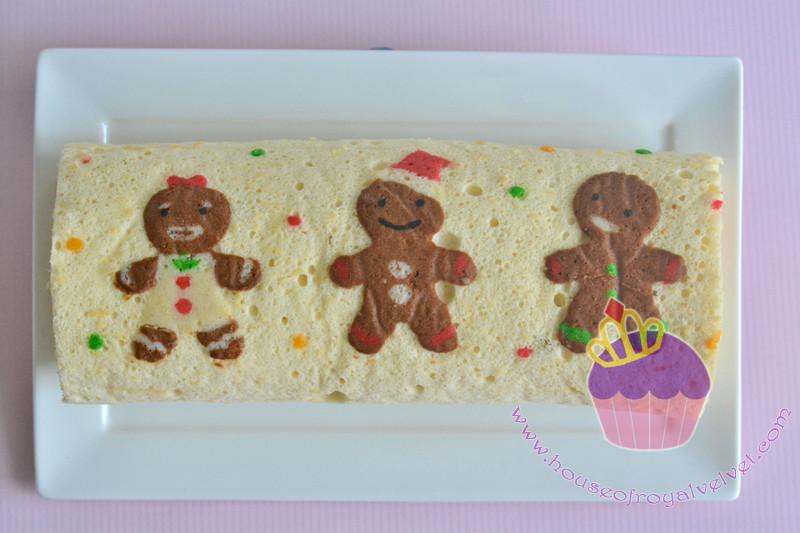 gingerbread roll cake
