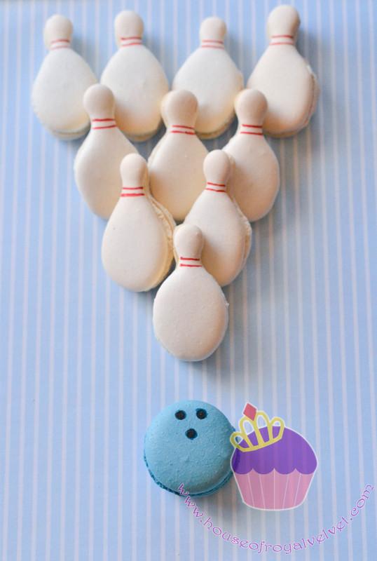 bowling macarons