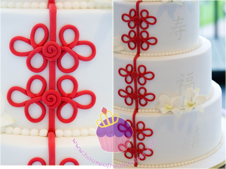 cheongsam wedding cake