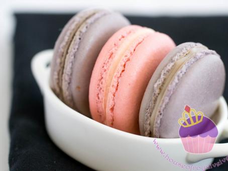 Rosewater & Grape Macarons