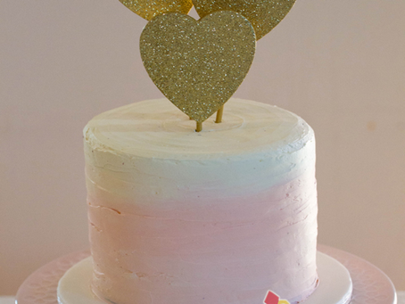 Watercolour Buttercream Cake for Alysha & Andy's Wedding