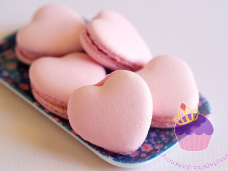 Heart Macarons for May's Bridal Shower