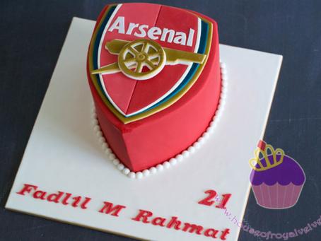 Arsenal Cake for Fadlil