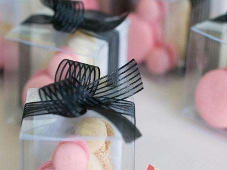 Mickey & Minnie Macarons for Mei & Daniel's Wedding Favours