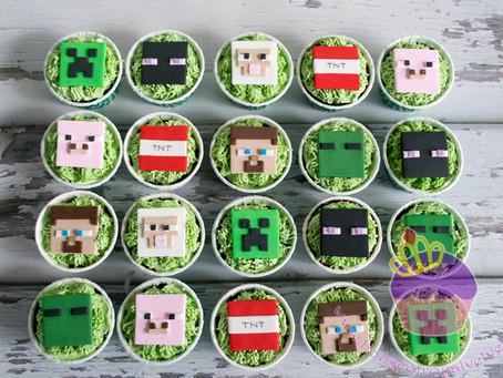 Minecraft Cupcakes for Austin