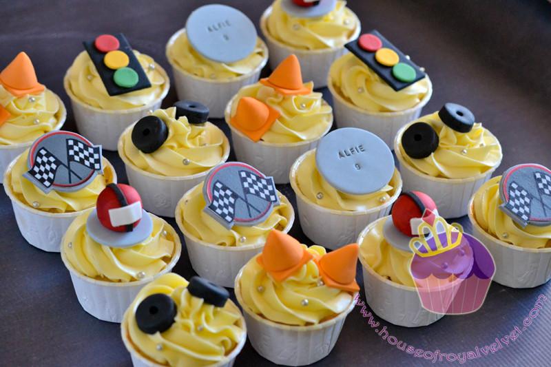 racing cupcakes